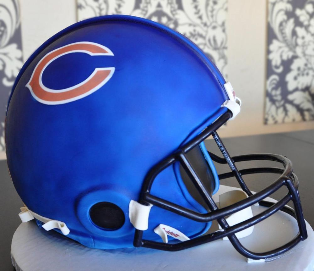Chicago Bears Wedding Cake football helmet