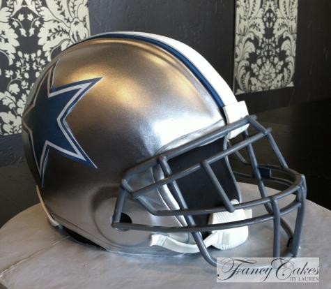 Dallas Cowboys Helmet Wedding Cake