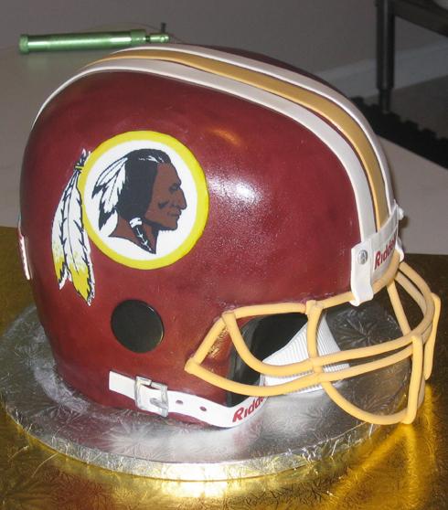 Poor Shape - Washington Redskins football helmet cake fail