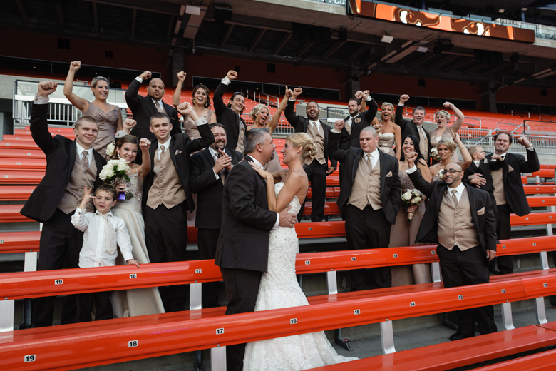 Cleveland Browns Themed Bridal Party
