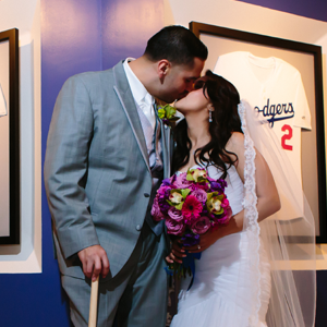 Baseball Themed Wedding at Dodger Stadium  | Sports Wedding