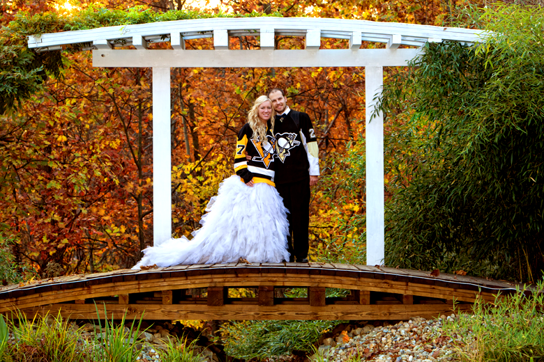 Sean and Alexandra\'s Pittsburgh Penguins Hockey Themed Wedding ...