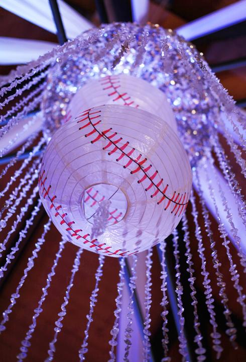 baseball wedding chandalier