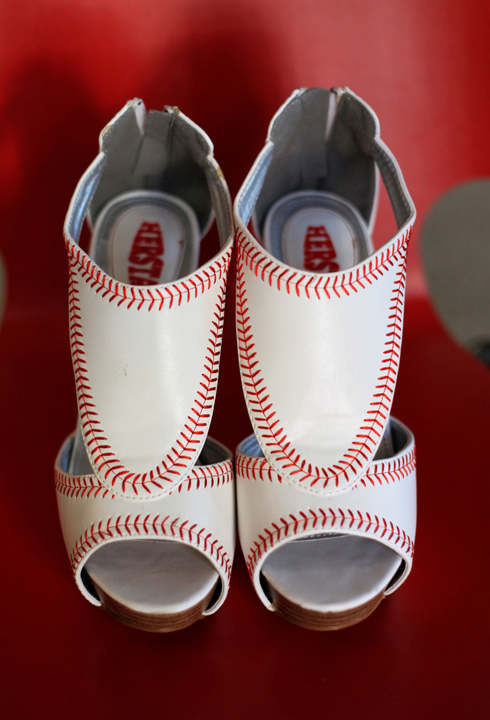 Baseball Wedding Shoes