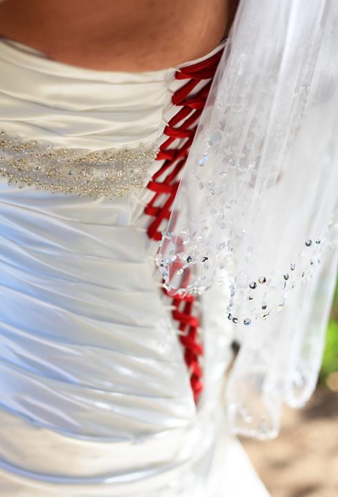 baseball bride wedding dress