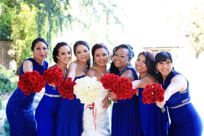 Los Angeles Dodgers bridesmaids