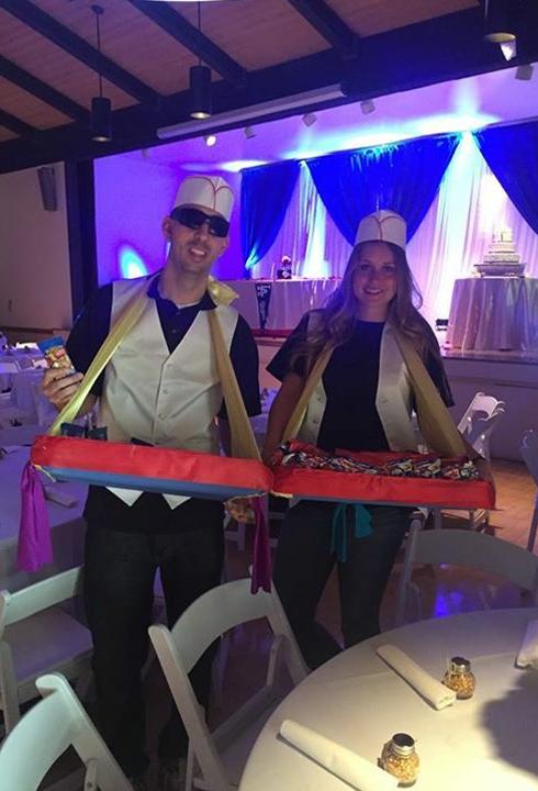 baseball wedding snack vendors