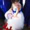 baseball themed wedding flower girl