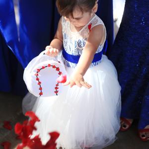 baseball themed wedding flower girl