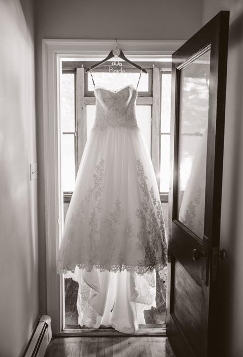 hockey themed wedding dress