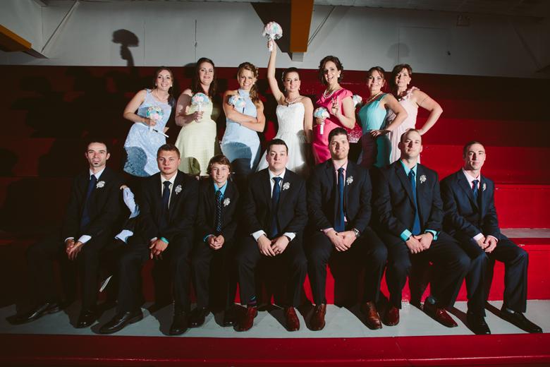 Hockey wedding bridal party