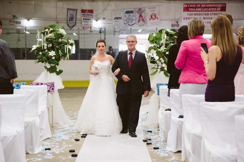 Hockey wedding bride