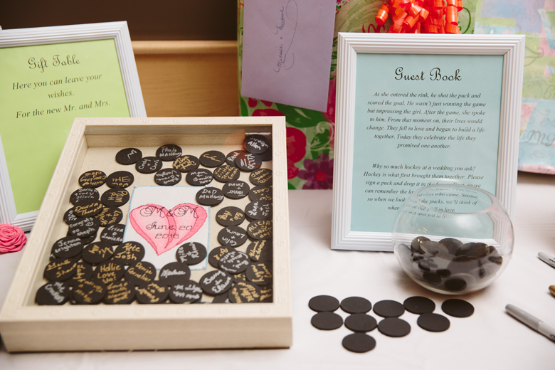 mini wedding puck guest book