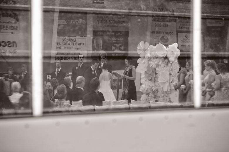 hockey wedding ceremony