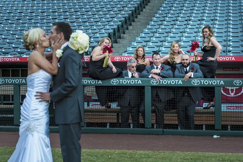 Angel Stadium Baseball Themed Wedding