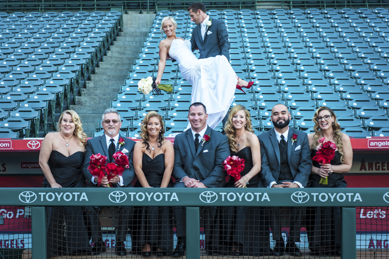Los Angeles Angels Themed Baseball Wedding