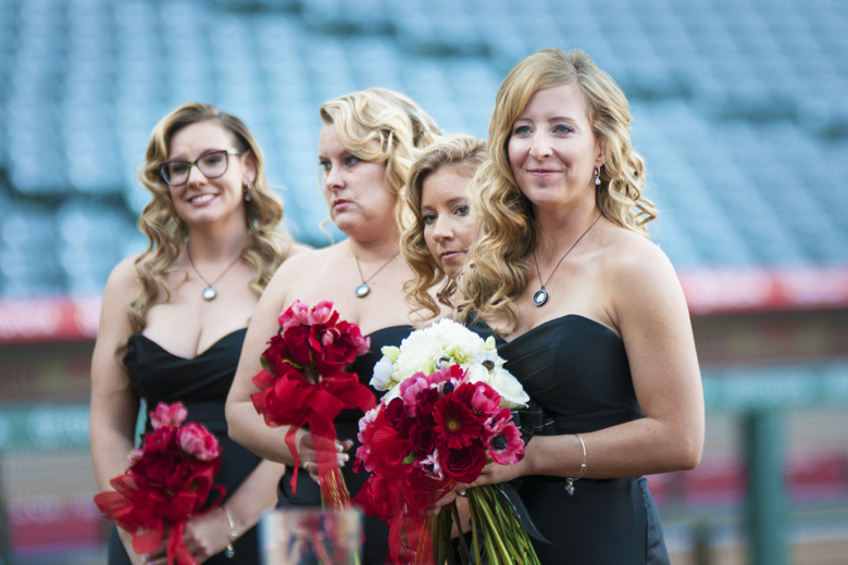 Angel Stadium Bridesmaids