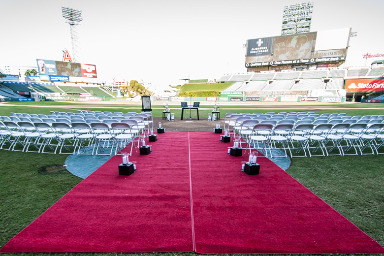 Angel Stadium baseball wedding