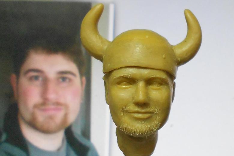 groom wax sculpture for bobblehead figurine