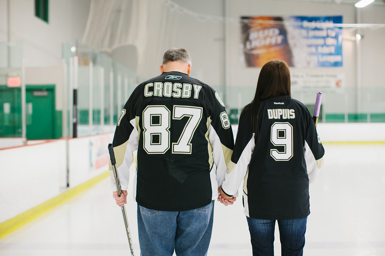 Pittsburgh Penguins hockey themed wedding