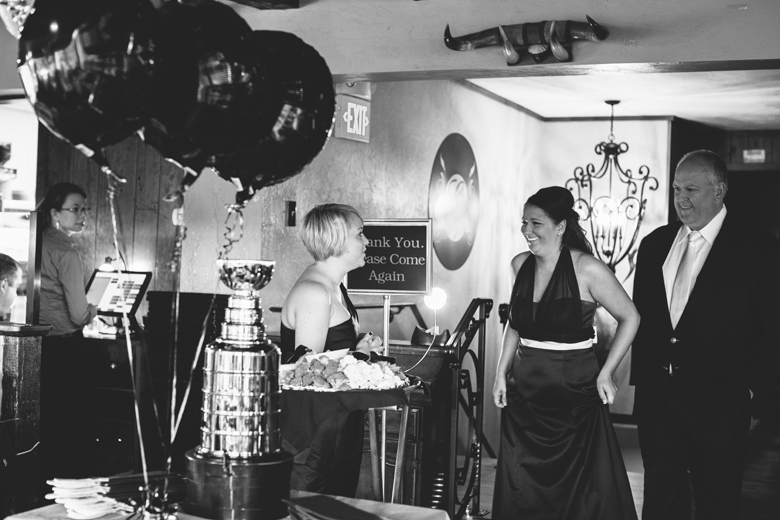 Hockey themed wedding stanley cup