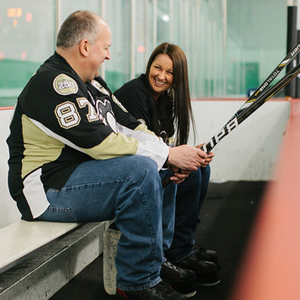 Pittsburgh Penguins hockey themed wedding