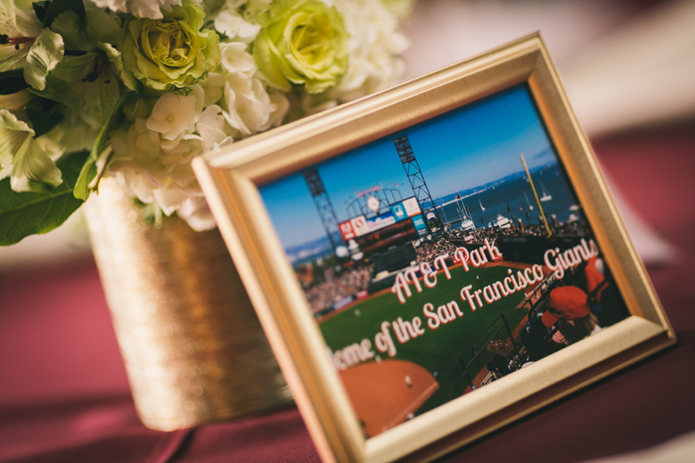 Baseball Themed wedding table centerpiece ideas