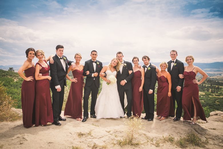 Baseball Themed Wedding Bridal Party