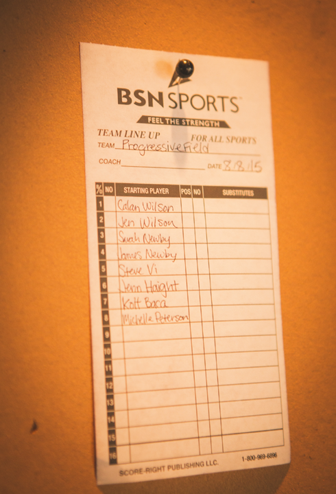 Baseball Wedding Lineup Card