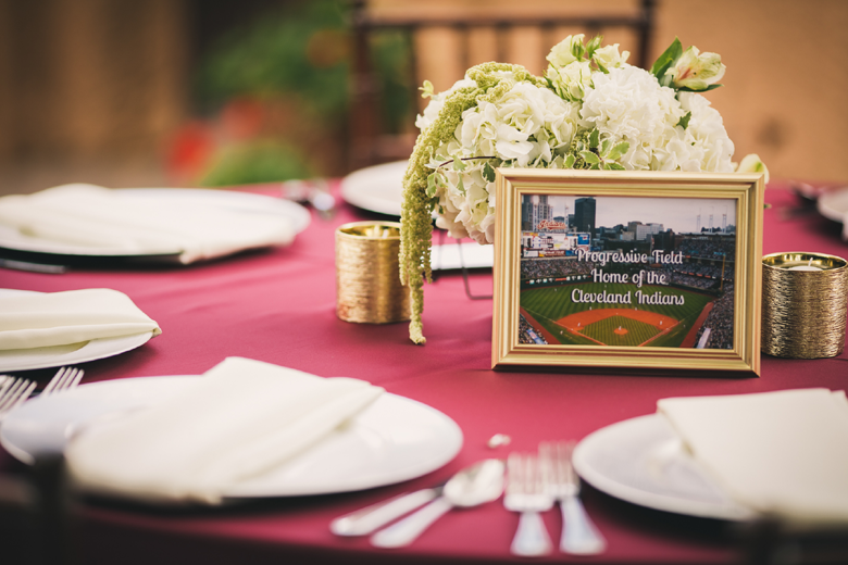 Baseball Wedding table centerpiece ballparks framed