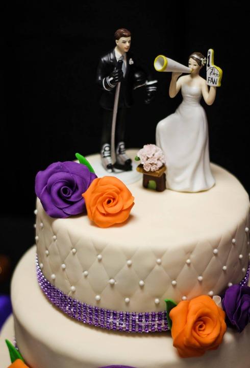 Hockey themed cake topper