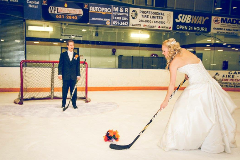 Bride on the ice