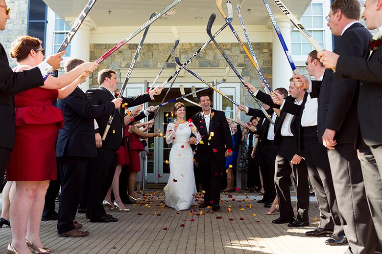 NHL Hockey Stick Archway - Bride and Groom